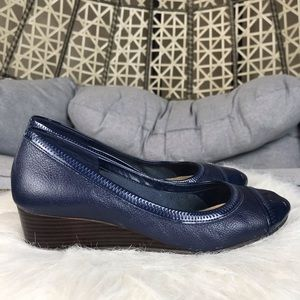 Cole Haan Milly Wedge Pump - Navy